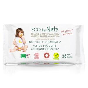Органические детские влажные салфетки Eco by Naty с алое, 56 шт