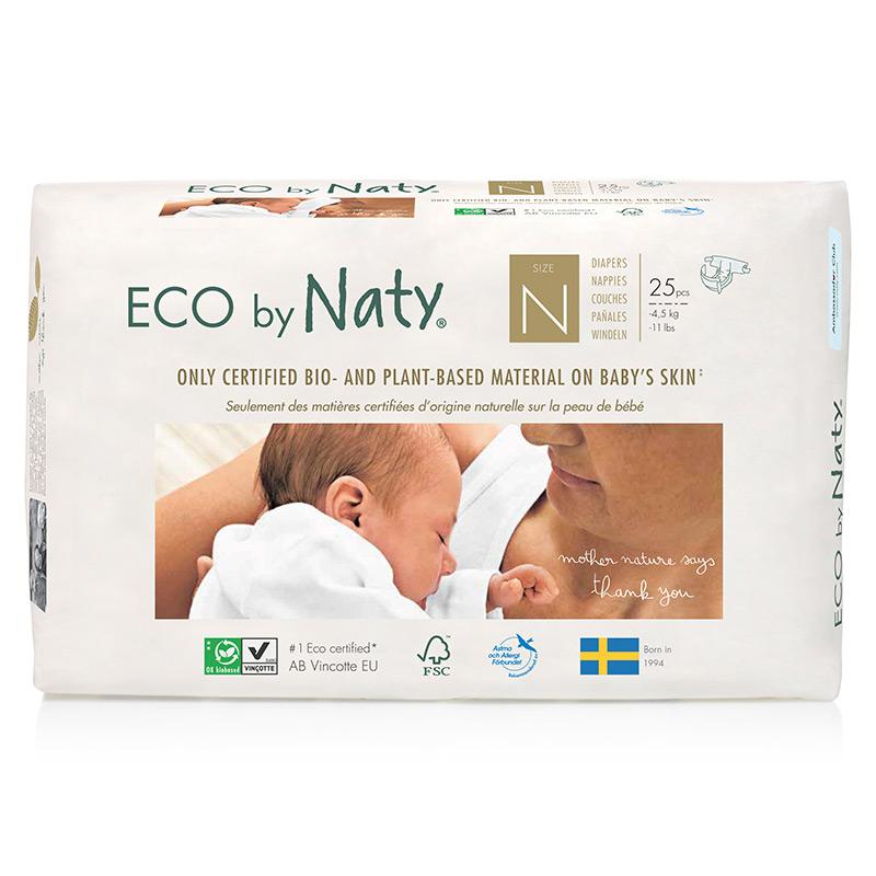 Органічні підгузки Eco by Naty, розмір 0 (від 0 до 4,5 кг), 25 шт.