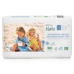 Органические подгузники Eco by Naty, размер 3 (от 4 до 9 кг), 50 шт.