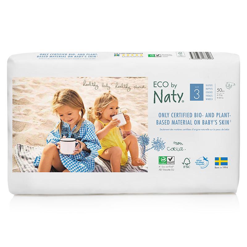 Органічні підгузки Eco by Naty, розмір 3 (від 4 до 9 кг), 50 шт.