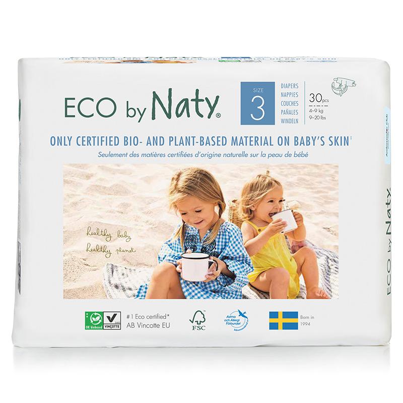 Органические подгузники Eco by Naty, размер 3 (от 4 до 9 кг), 30 шт.