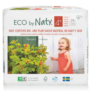 Органические подгузники Eco by Naty, размер 4+ (от 9 до 20 кг), 24 шт.