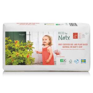 Органические подгузники Eco by Naty, размер 4+ (от 9 до 20 кг), 42 шт.