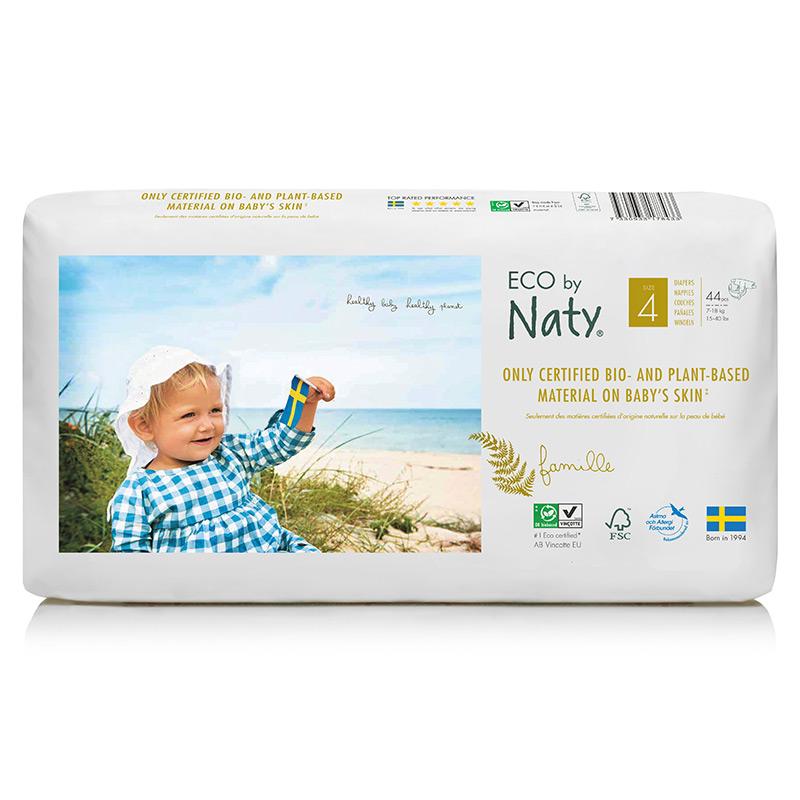 Органічні підгузки Eco by Naty, розмір 4 (від 7 до 18 кг), 44 шт.