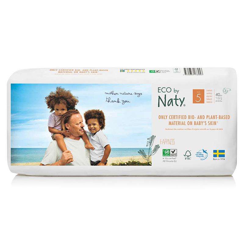 Органічні підгузки Eco by Naty, розмір 5+ (від 11 до 26 кг), 40 шт.