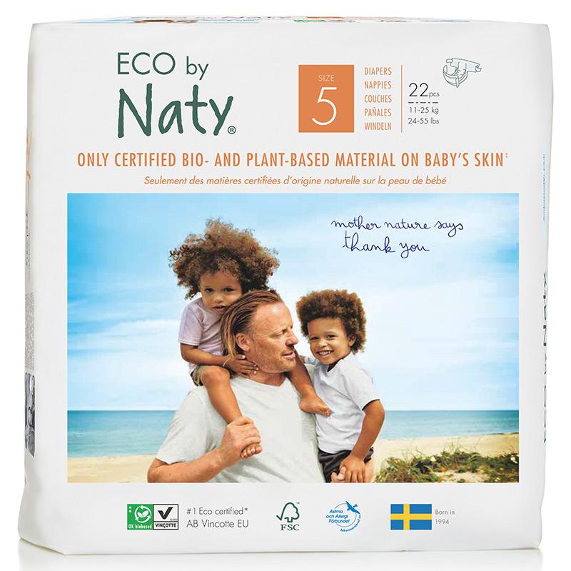 Органічні підгузки Eco by Naty, розмір 5 (від 11 до 25 кг), 22 шт.