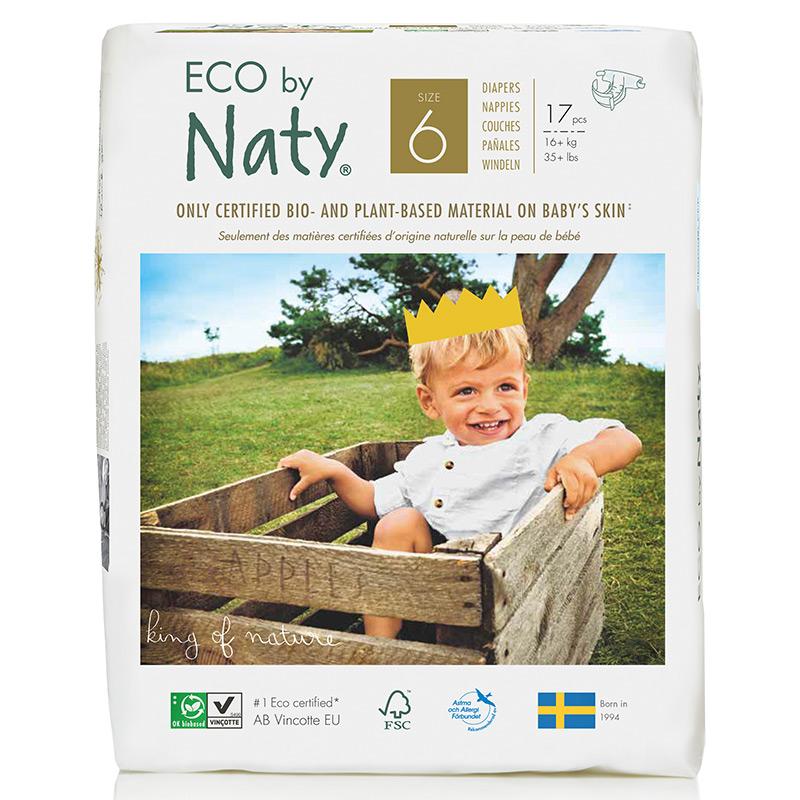 Органические подгузники Eco by Naty, размер 6 (от 16 кг), 17 шт.
