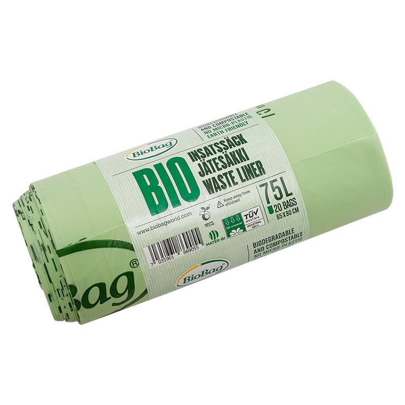 Еко-пакети для сміття BioBag 75 л