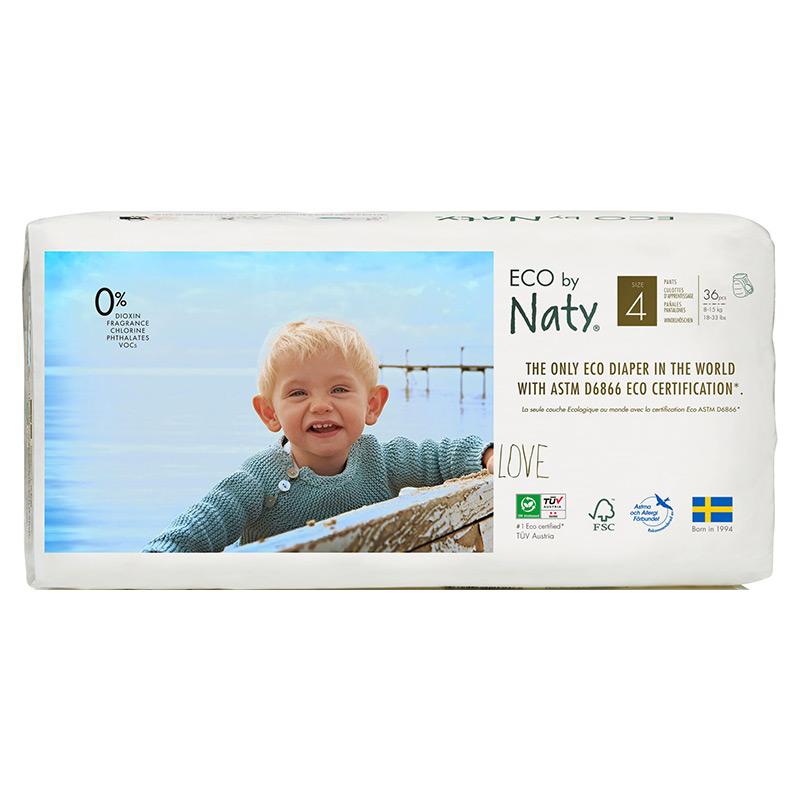 Органические подгузники-трусики Eco by Naty, размер 4 ML (от 8 до 15 кг), 36 шт.