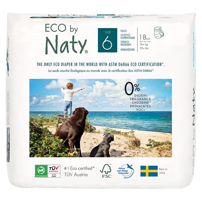Органічні підгузки-трусики Eco by Naty, розмір 6 ML (від 16 кг), 18 шт.