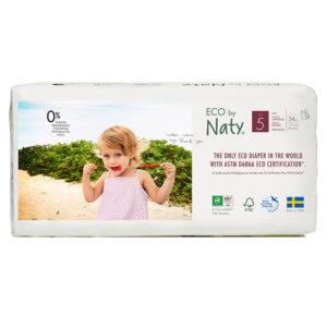 Органические подгузники-трусики Eco by Naty, размер 5 ML (от 12 до 18 кг), 34 шт.