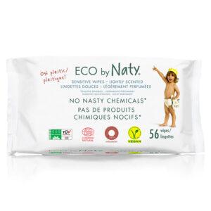 Органические детские влажные салфетки Eco by Naty с легким ароматом, 56 шт