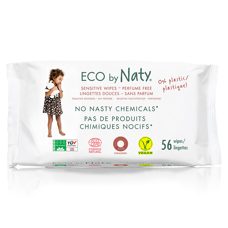 Органічні дитячі вологі серветки Eco by Naty без запаху, 56 шт