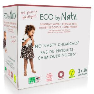 Органические детские влажные салфетки Eco by Naty эконом, 168 шт