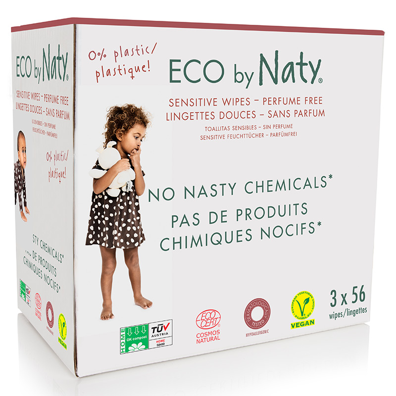 Органічні дитячі вологі серветки Eco by Naty економ, 168 шт