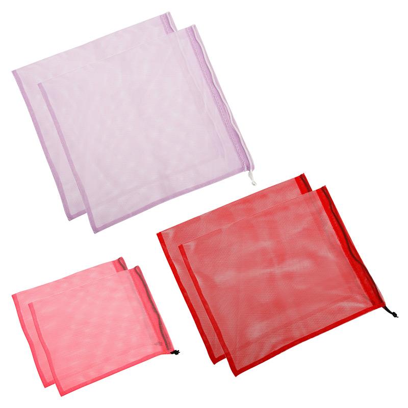 """Набор мешочков """"Цветной"""" (розовые, красные, лиловые), 6 шт"""