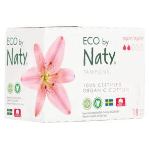 Гигиенические тампоны Eco by Naty Regular Digital, 2 капли, 18 шт