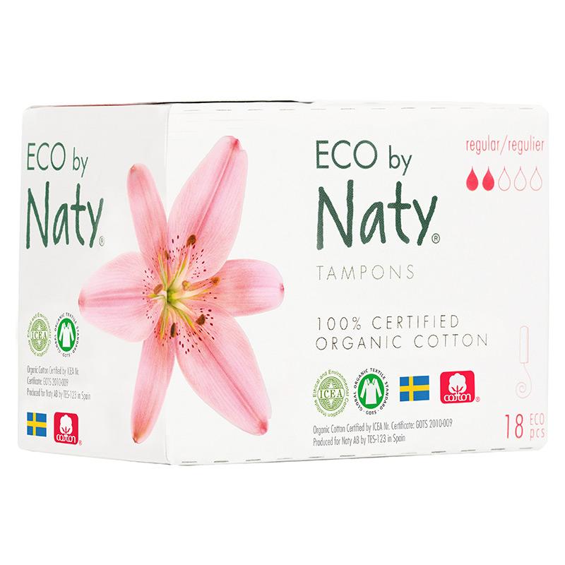 Гігієнічні тампони Eco by Naty Regular Digital, 2 краплі, 18 шт