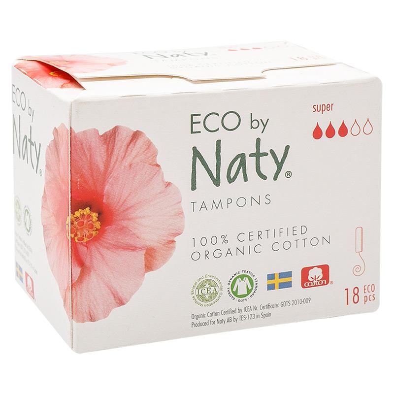 Гігієнічні тампони Eco by Naty Super Digital, 3 краплі, 18 шт