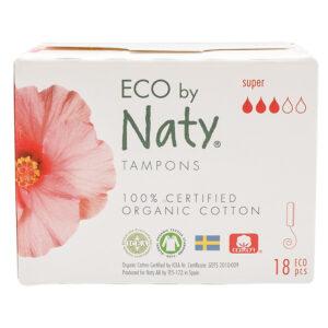 Гигиенические тампоны Eco by Naty Super Digital, 3 капли, 18 шт