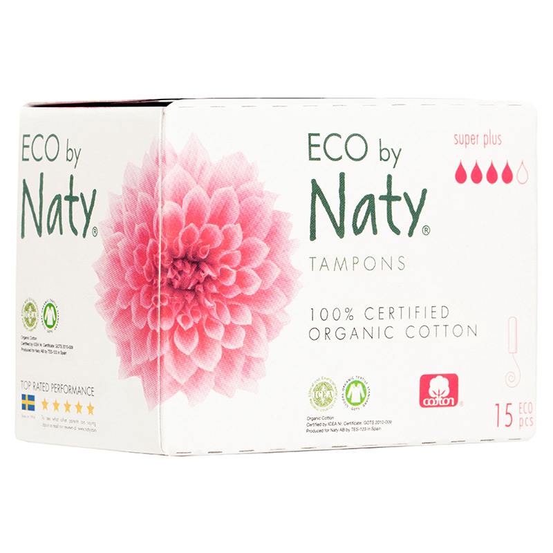 Гігієнічні тампони Eco by Naty Super Plus Digital, 4 краплі, 15 шт