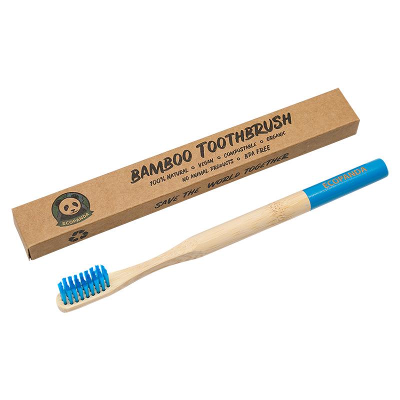 Бамбуковая зубная щетка Ecopanda (синяя)