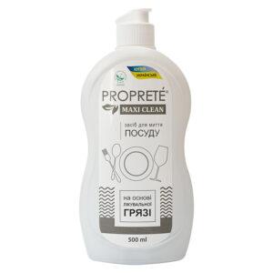 Екологічний засіб для миття посуду з лікувальною гряззю Proprete Maxi Clean, 500 мл