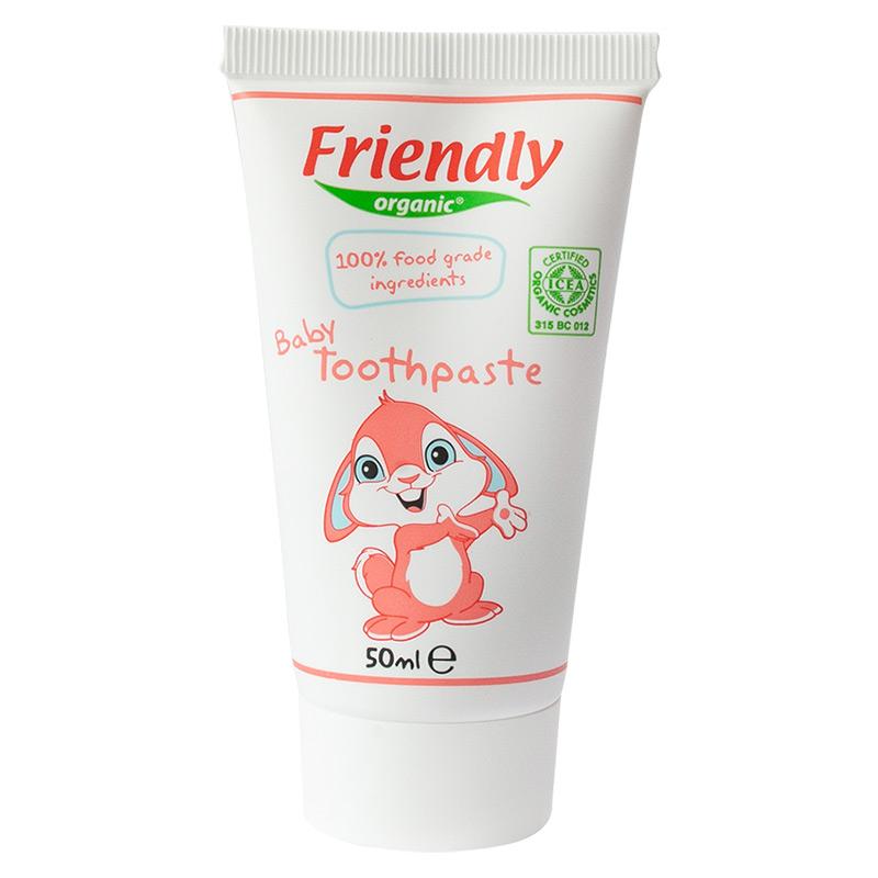 Органічна дитяча зубна паста FRIENDLY ORGANIC, 50 мл
