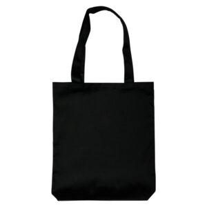 Экосумка-шопер с широким дном (черная, 100% хлопок)