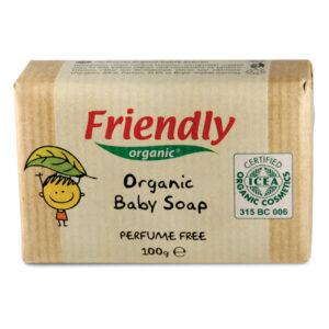 Органическое детское твердое мыло FRIENDLY ORGANIC без запаха, 100 г
