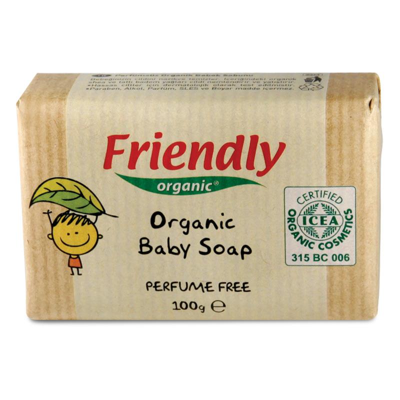 Органічне дитяче тверде мило FRIENDLY ORGANIC без запаху, 100 г