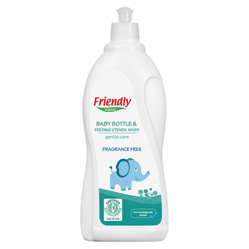 """Органічний засіб для миття дитячого посуду """"FRIENDLY ORGANIC"""" без запаху, 750 мл"""