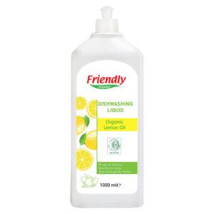 Органічний засіб для миття посуду FRIENDLY ORGANIC з лимонною олією, 1000 мл