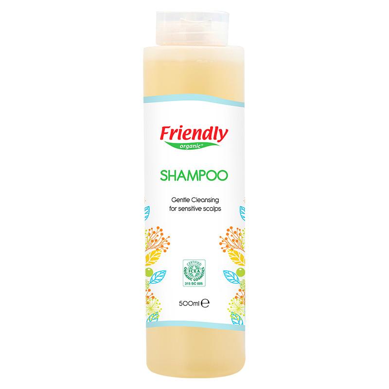 Органічний шампунь для чутливої шкіри голови FRIENDLY ORGANIC, 500 мл