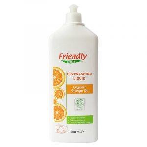 Органічний засіб для миття посуду FRIENDLY ORGANIC з апельсиновою олією, 1000 мл