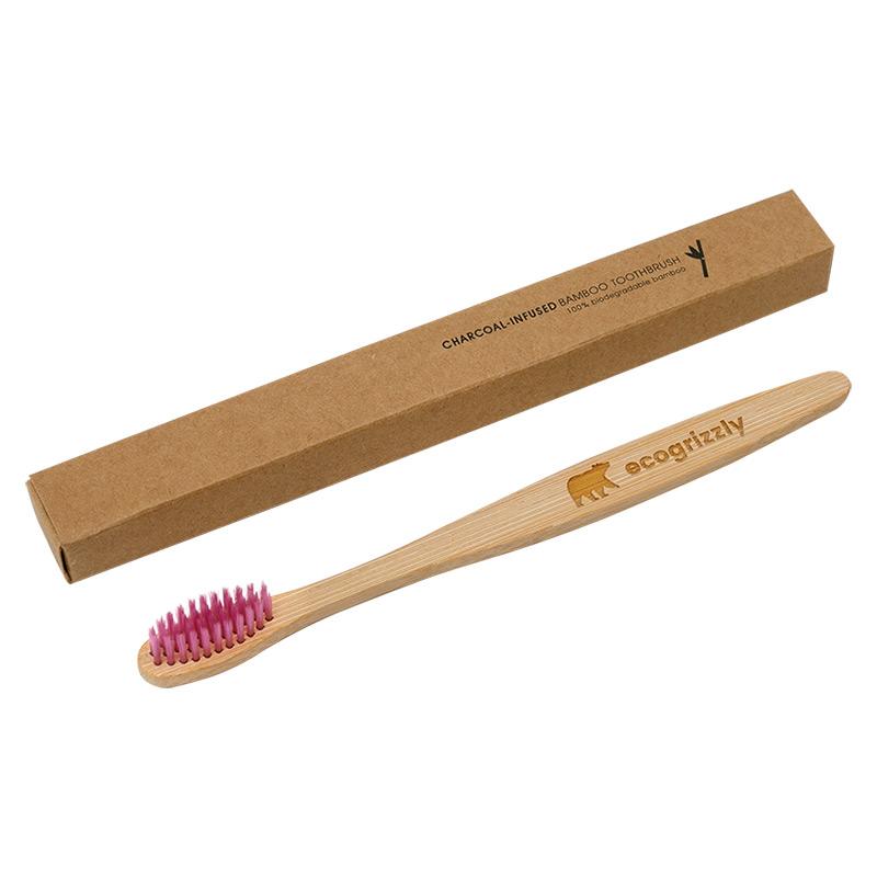Зубна щітка Ecogrizzly бамбукова (кольору лаванди)