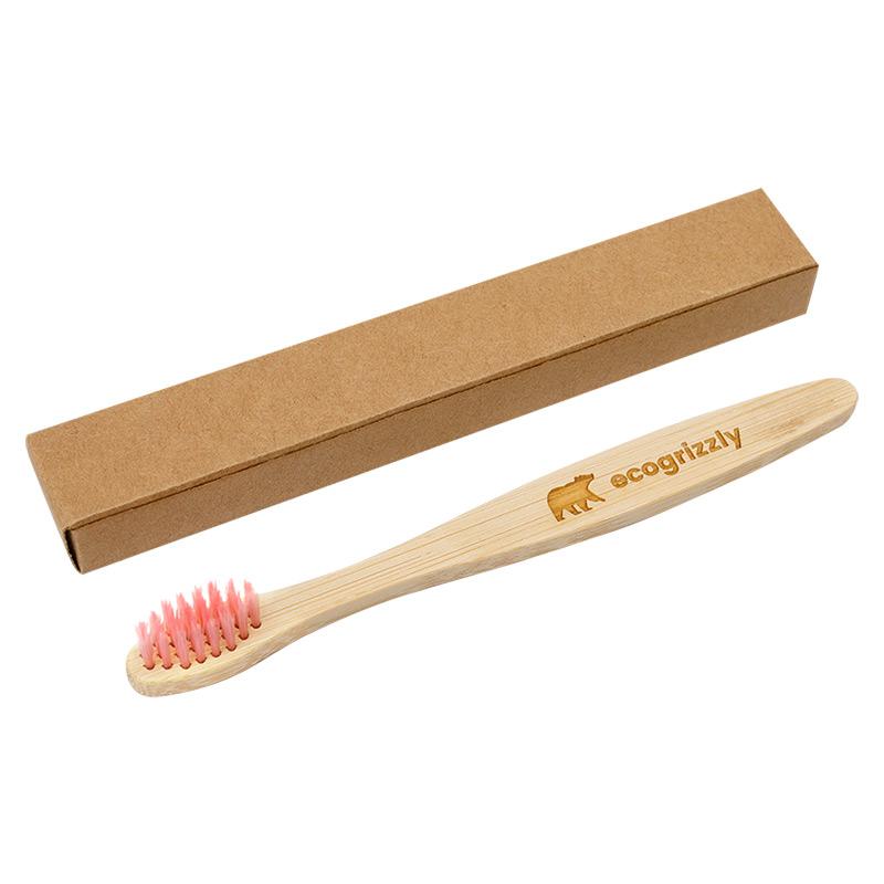 Бамбукова зубна щітка Ecogrizzly для дітей (рожева)