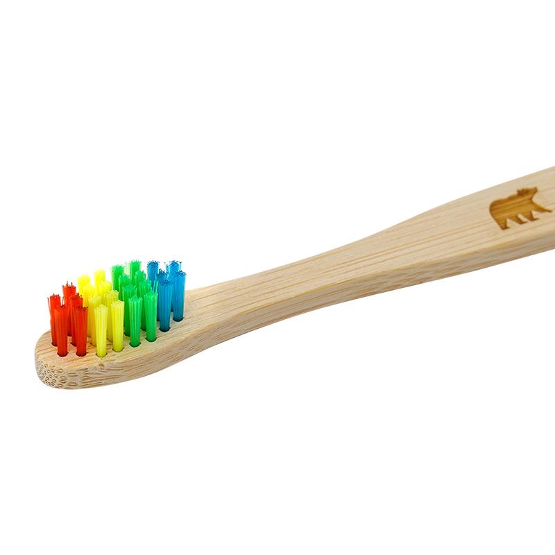 Бамбукова зубна щітка Ecogrizzly для дітей (кольорова)