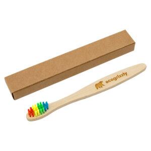 Бамбуковая зубная щетка Ecogrizzly для детей (цветная)
