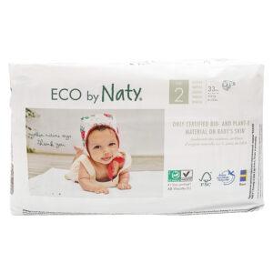 Органические подгузники Eco by Naty, размер 2 (от 3 до 6 кг), 33 шт.