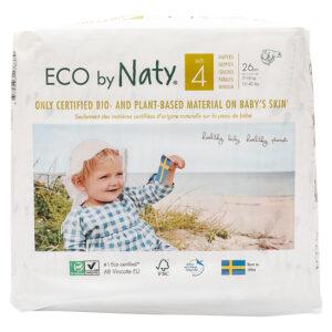 Органические подгузники Eco by Naty, размер 4 (от 7 до 18 кг), 26 шт.