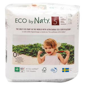 Органические подгузники-трусики Eco by Naty, размер 5 ML (от 12 до 18 кг), 20 шт.