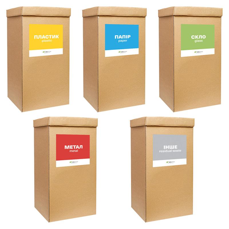 """Набір контейнерів """"Eco сортування"""""""
