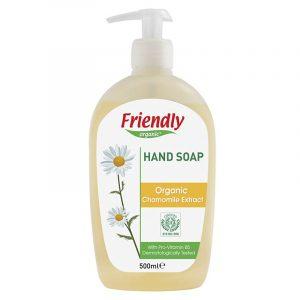 Органическое мыло для рук FRIENDLY ORGANIC с экстрактом ромашки, 500 мл