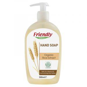 Органическое мыло для рук FRIENDLY ORGANIC с экстрактом риса, 500 мл