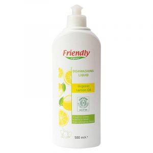 Органічний засіб для миття посуду FRIENDLY ORGANIC з лимонною олією, 500 мл