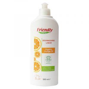 Органическое средство для мытья посуды FRIENDLY ORGANIC с апельсиновым маслом, 500 мл
