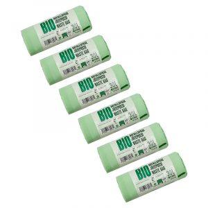 Комплект биоразлагаемых пакетов для мусора BioBag Big Family, 6 рулонов