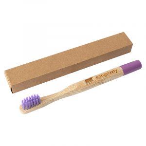 Бамбуковая зубная щетка Ecogrizzly для детей (пурпурная)