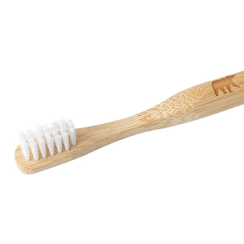 Бамбукова зубна щітка Ecogrizzly для дітей (біла)